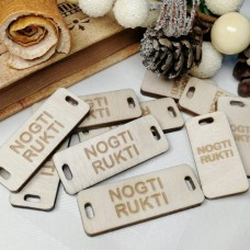 Wooden tags (to order). Rectangle 15 x 40 mm (set of 10 pieces)